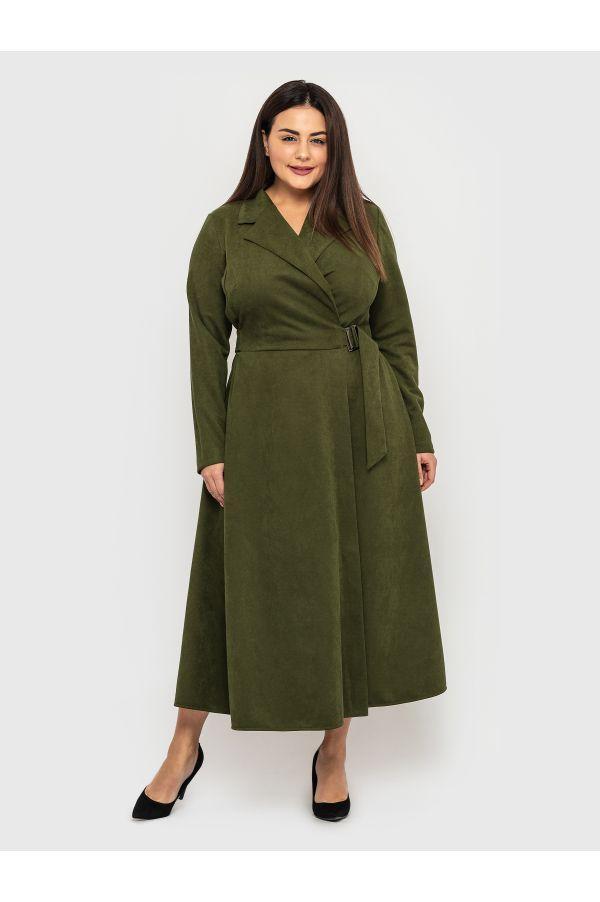 Красивое БАТАЛЬНОЕ платье из замша 50,52,54,56 размер