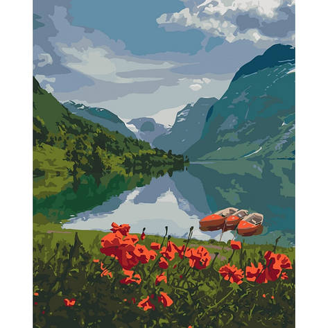 "Набор для росписи по номерам ""Краса Норвегії"", 40*50 см, фото 2"