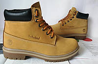 Супер Timberland ! Мужские зимние ботинки Тимберленд кожа мех сапоги рыжие Супер!, фото 1