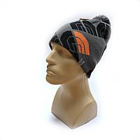 Молодежная шапка зимняя с помпоном Hyvent 3741 серая, фото 1