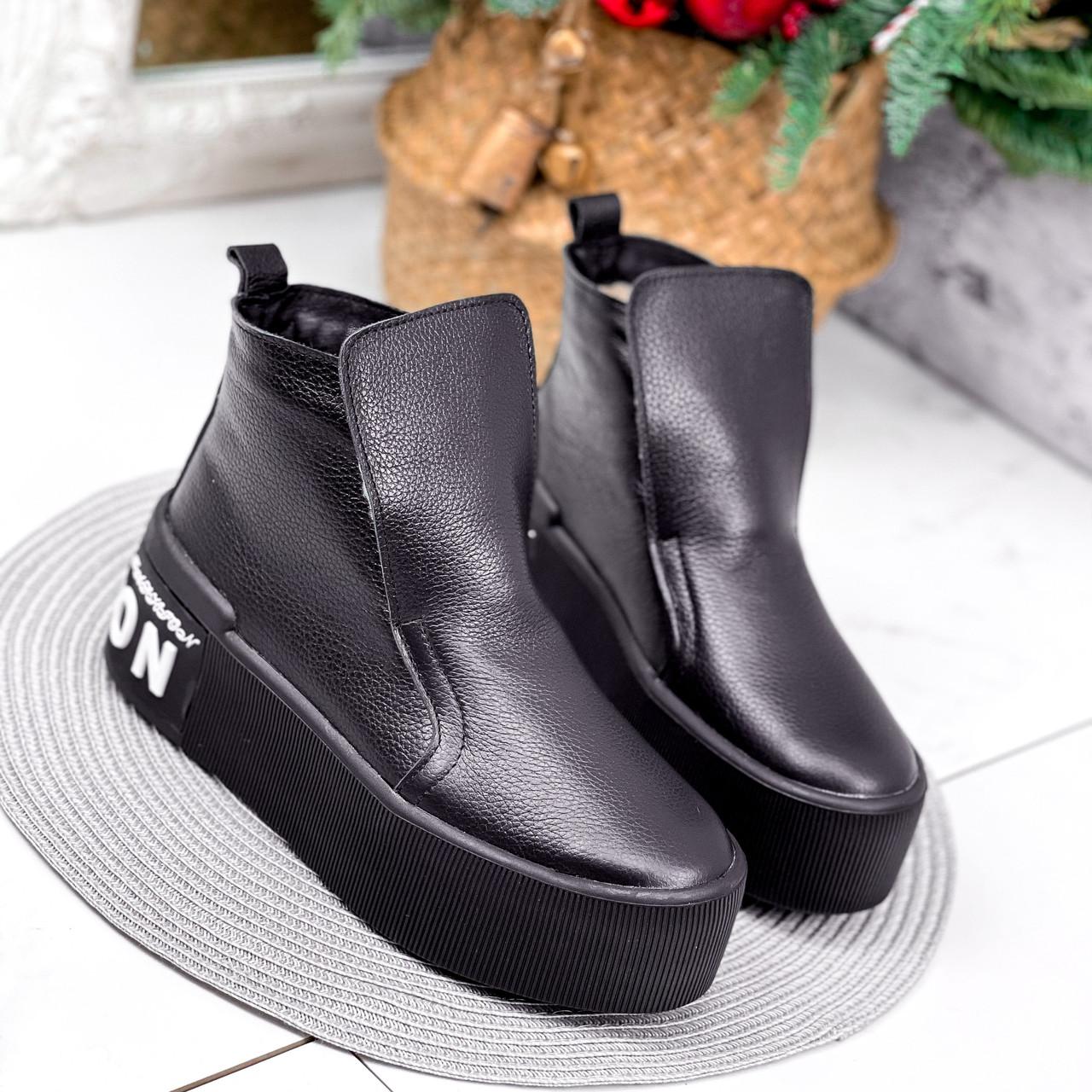 Ботинки женские Alberta черные ЗИМА 2636