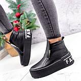 Ботинки женские Alberta черные ЗИМА 2636, фото 2