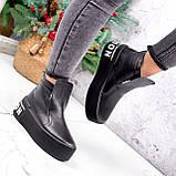 Ботинки женские Alberta черные ЗИМА 2636, фото 3