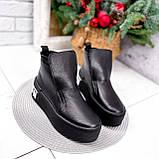 Ботинки женские Alberta черные ЗИМА 2636, фото 6