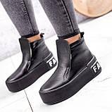 Ботинки женские Alberta черные ЗИМА 2636, фото 8