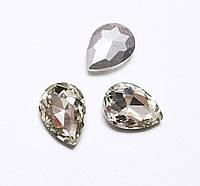 Камни ювелирные Капля 13*18мм прозрачные стекло (цена за 5шт.), фото 1