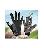 Перчатки велосипедные Rogtyo гель с закрытыми пальцами, вело перчатки XL, фото 1