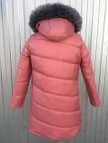 Куртка женская зимняя модель Полоска, размеры от 40 до 50, фото 3