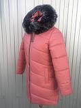 Куртка женская зимняя модель Полоска, размеры от 40 до 50, фото 2