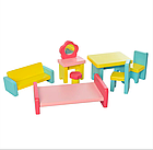 Деревянный домик для кукол (аналог KidKraft) с мебелью, фото 2