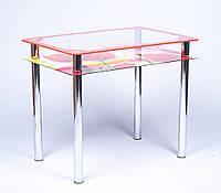 Стол обеденный из стекла модель Рамка-Фотопечать