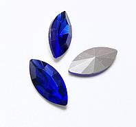 Камни ювелирные  Маркизы 7*15мм сапфир стекло (цена за 5шт.), фото 1