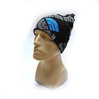 Молодежная шапка зимняя с помпоном Hyvent 3741 черный, фото 1
