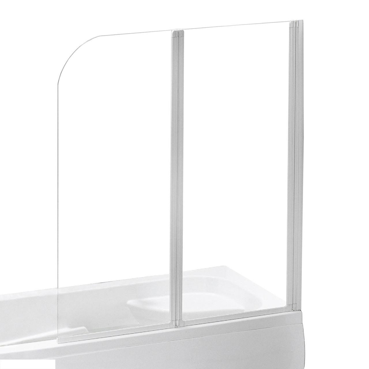 Шторка на ванну 120*138 см, колір профілю білий