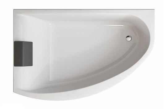 MIRRA ванна асиметрична 170*110 см, права, з ніжками SN8, елементами кріплення і підголовником