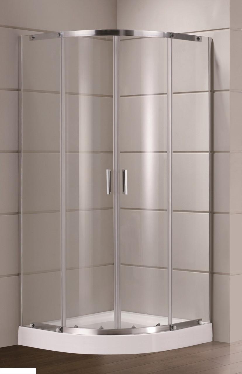 TOKAI душова кабіна 90*90*185 см, профіль хром, скло (скло+двері)