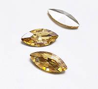 Камни ювелирные Маркизы 6*12мм шампанское стекло (цена за 5шт.), фото 1