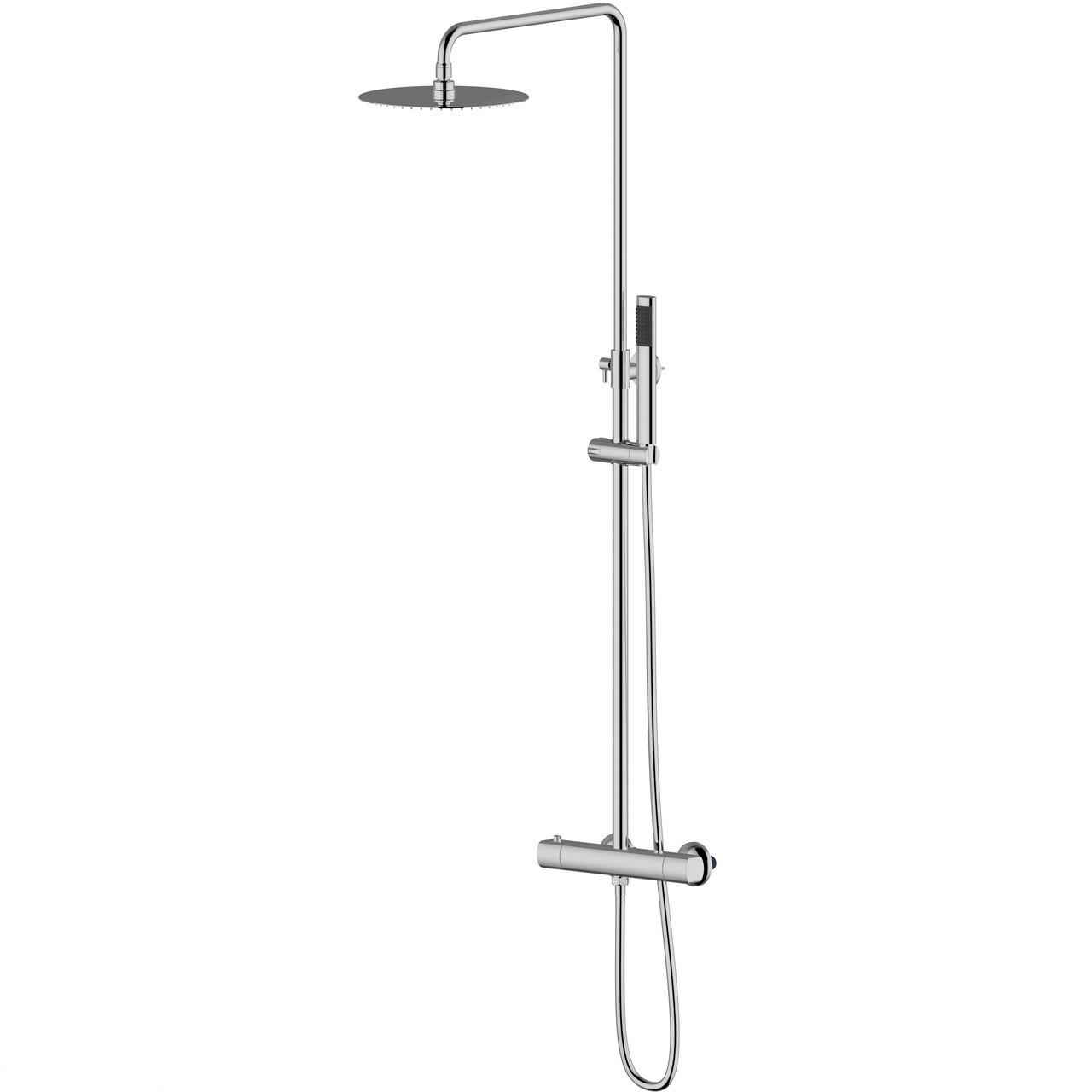 CENTRUM система душова (змішувач-термостат для душу, верхній та ручний душ 1режим, шланг)