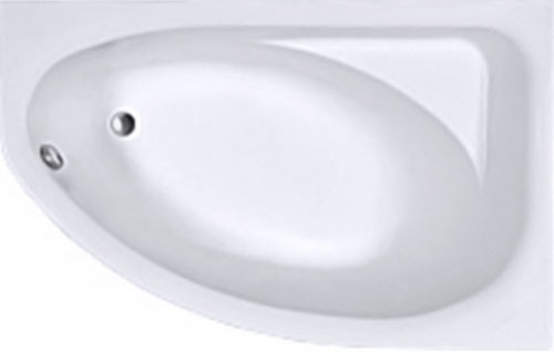 SPRING ванна асиметрична 170*100 см, права, біла, з ніжками SN7