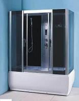 Гидробокс без пара, с электроникой, ванной без гидромассажа 1500*830*2150 мм, стекло GREY