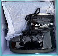 Сапоги луноходы женские зимние 6 пар в ящике черного цвета 36-41, фото 5