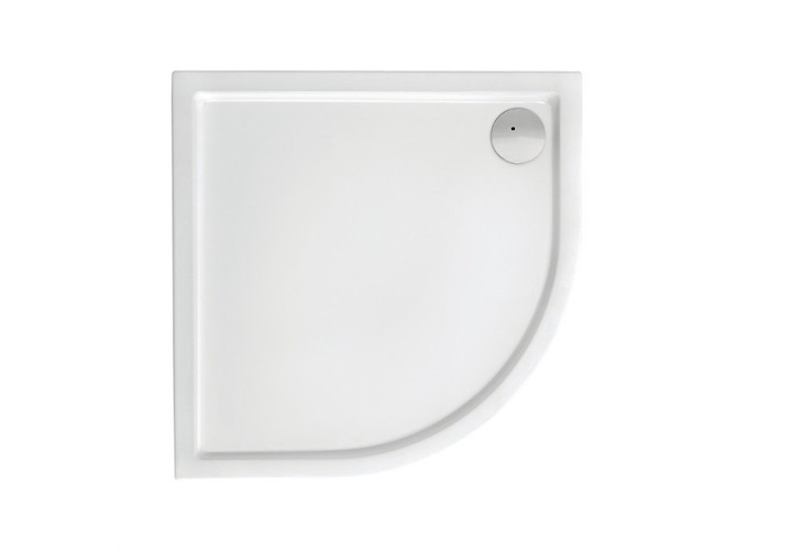 MALAGA Rondo Compact поддон полукруглый 90*90 с интегрированной панелью выс.13,5 см