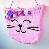 Піньята кішка кішечка паперова для свята піната Кіт котик Кітті піньята, фото 4