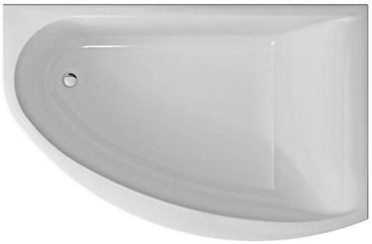 MIRRA ванна асимметричная 170*110 см, правая, с ножками SN8 и элементами крепления, белая