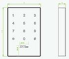 Считыватель карт доступа с сенсорной клавиатурой ZKTeco KR702MF, фото 2