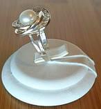 Серебряное кольцо с накладками золота и жемчугом, фото 6