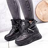Ботинки женские Top черные ЗИМА 2631, фото 3