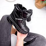 Ботинки женские Top черные ЗИМА 2631, фото 6