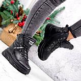 Ботинки женские Top черные ЗИМА 2631, фото 7