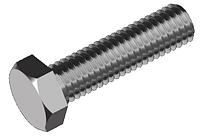 Болты с шестигранной головкой сталь 5.8 ЦБ DIN 933
