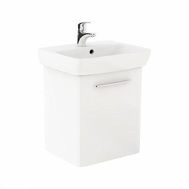 NOVA PRO комплект: умивальник 55cm прямокутний + шафка для умивальника білий глянець (пол)