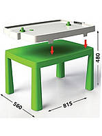 Стол детский+ комплект для игры DOLONI TOYS зеленый