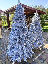 Лита ялинка  Засніжена Елітна 1.80 м з вбудованою гірляндою, фото 2