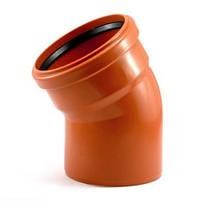 Колено 110*30 для наружной канализации Инсталпласт