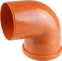 Колено 110*90 для наружной канализации Инсталпласт