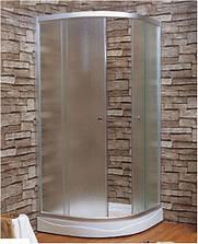 """Душ. Кабина с мелким поддоном, стекло(4мм) """"FABRIC""""1000*1000*1940 (в ком с мелким поддоном) цв.САТИН"""