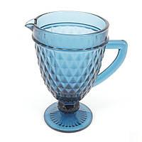 Кувшин для напитков Garbo Glassware 1.1 л (2611DZS/ Blue)