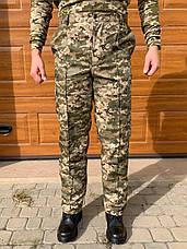 Камуфляжные утеплённые брюки Пиксель (флис) ЗСУ мм-14, фото 3