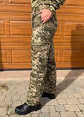 Камуфляжные утеплённые брюки Пиксель (флис) ЗСУ мм-14, фото 2
