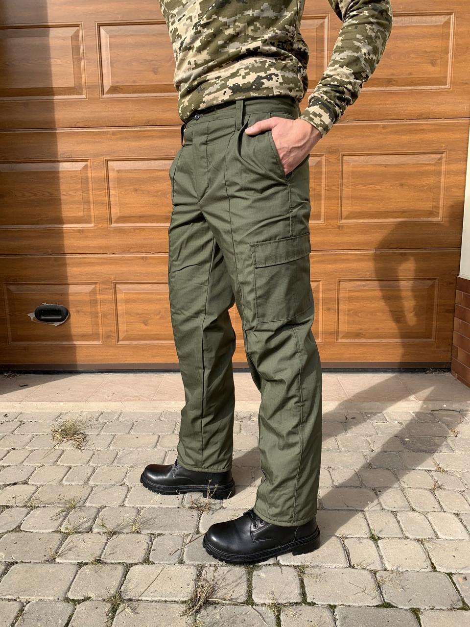 Камуфляжні штани утеплені Гірка олива
