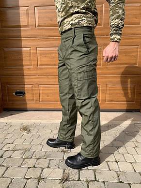 Камуфляжные утеплённые брюки Горка олива, фото 2