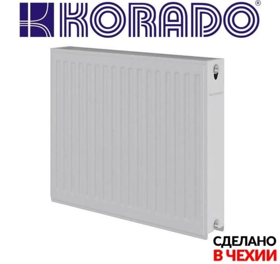 Радіатор сталевий 22 КОМ 600Х600 (code 39 - Black RAL 9005 - чорний) Korado