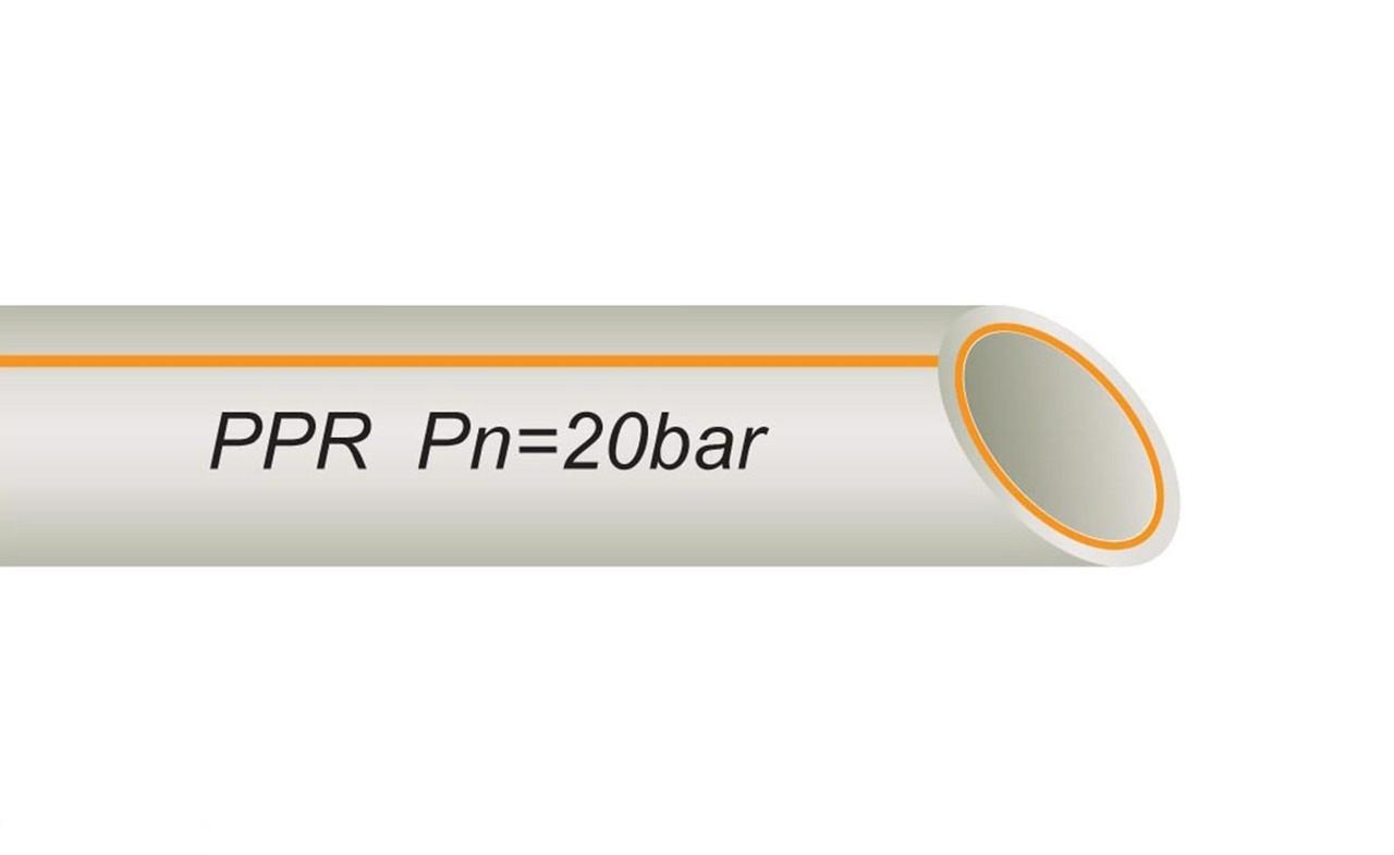 Труба полипропиленовая 25 мм со стекловолокном FR-PPR PIPE VS PLAST