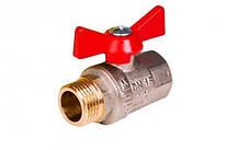 Кран шаровой полнопроходной НВ 1/2 ручка бабочка  (25bar) -  STA