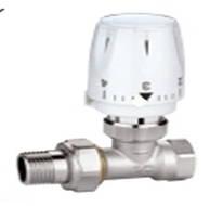 Кран для радиатора термостатический в комплекте прямой 1/2 -  STA