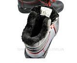 Ботинки зимние Черевики зимові робочі утеплені штучним хутром зі сталевим підноском 40.41,43,44,45,46, фото 2